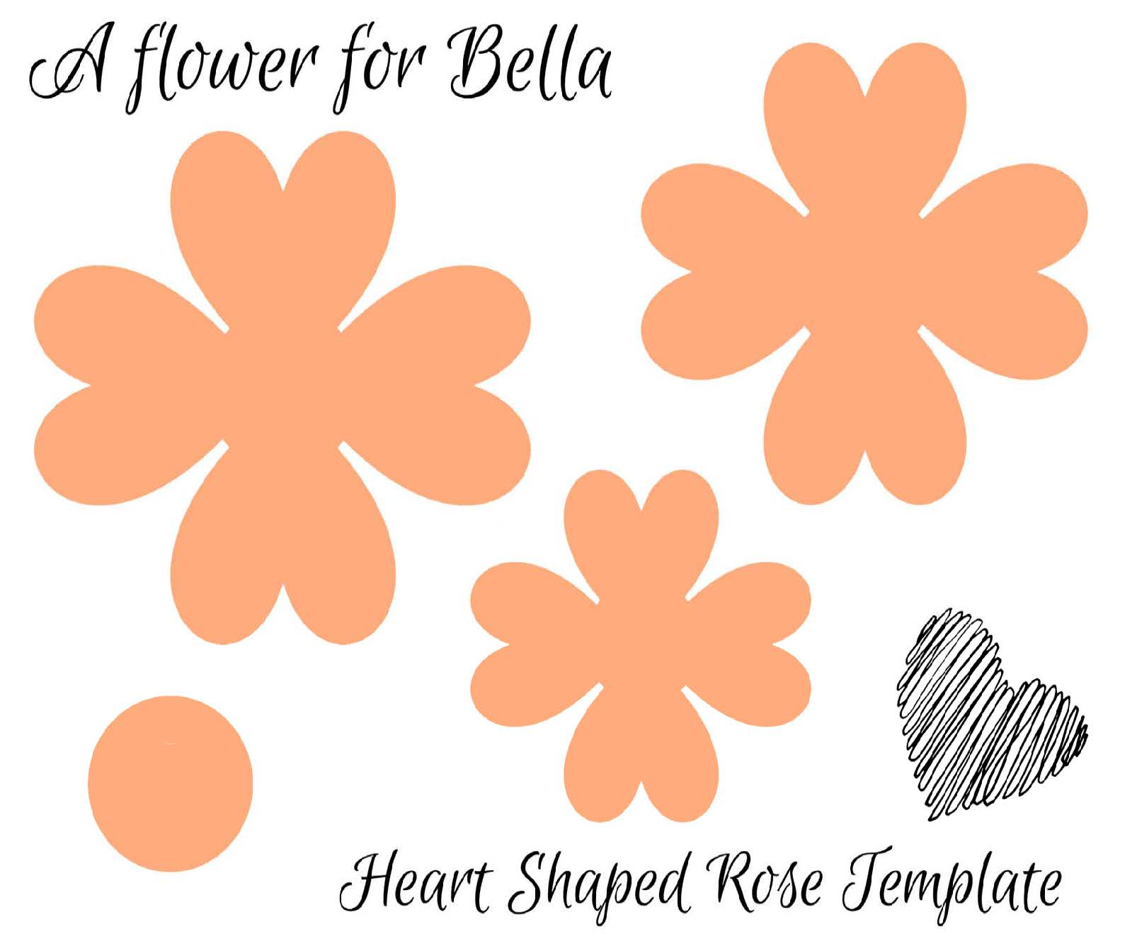 Heart Shaped Rose Template Download