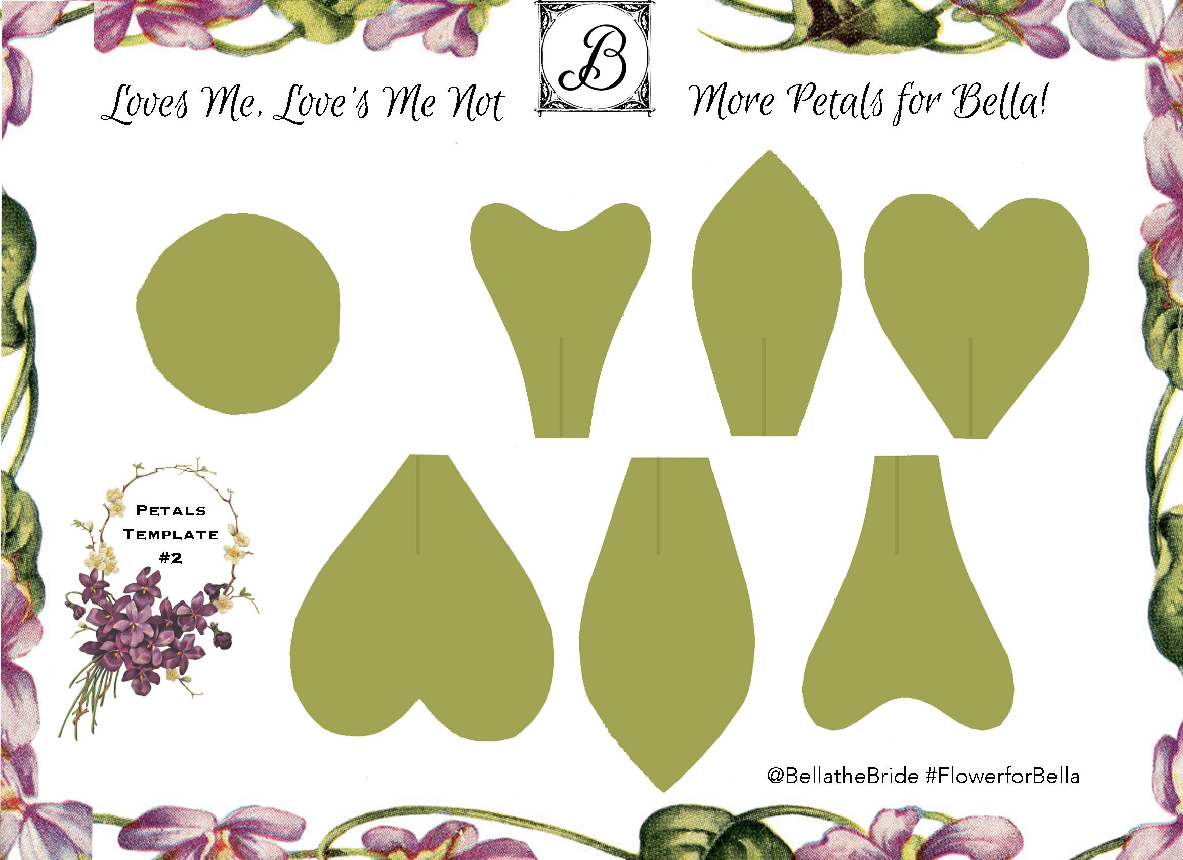 Pick Your Petals Template 2